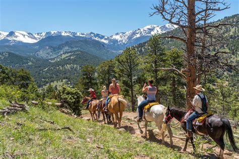 horseback riding mountain rocky park national ride estes rides corner cowpoke trail colorado corral stables forest