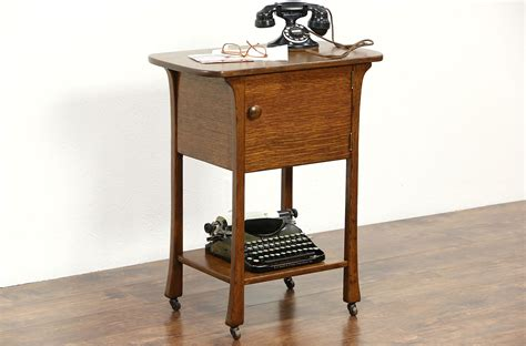 sold oak antique  art nouveau telephone stand bath