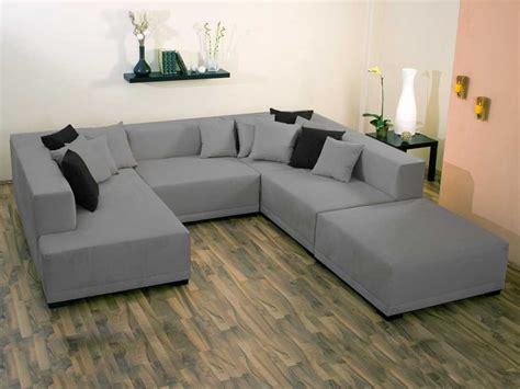 canapé en forme de u canapé d 39 angle tissu u quot mat xl quot 9 10 places gris 25925