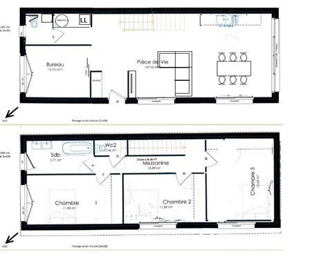 plan maison plain pied 4 chambres garage plan maison de ville étroite toute en longueur 8 messages
