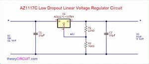 Az1117c Low Dropout Linear Voltage Regulator Circuit