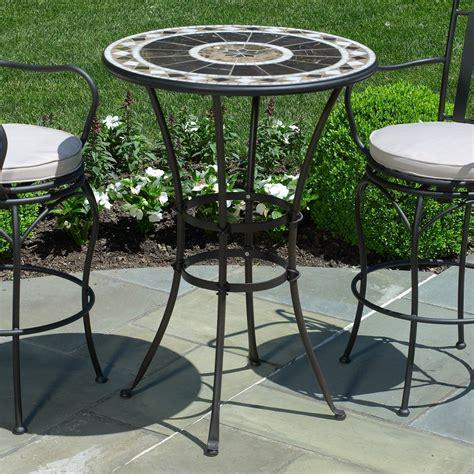 furniture traditional bar height patio set  stylish