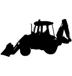 compact excavator silhouette royalty  vector image