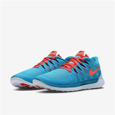 Nike Mens Free Running Shoes Blue Lagoon Bright