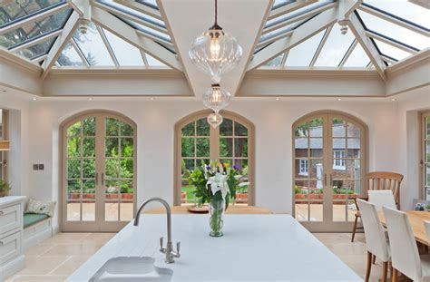 light filled kitchen  dining orangery   listed