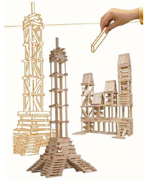 siege le parisien jeu de construction kapla en bois avec caisse pour