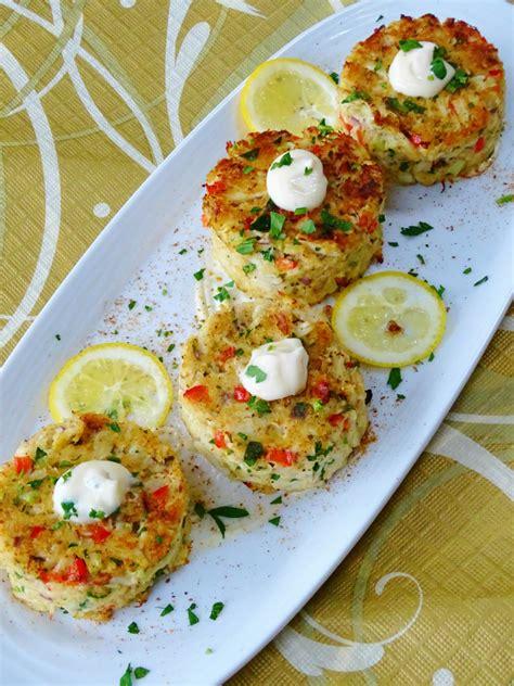 baked crab cakes  meyer lemon aioli proud italian cook