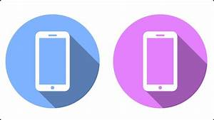 Smartphone Flat Icon Vector Graphic - Inkscape Tutorial ...