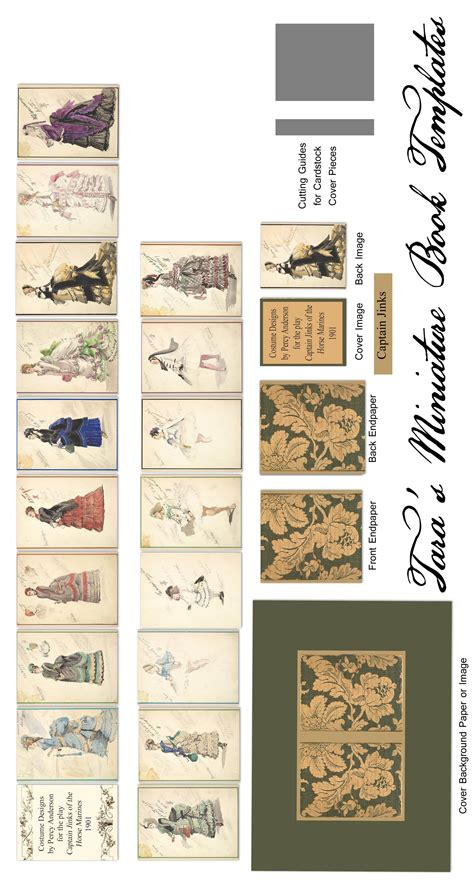 Dollhouse Miniature Template by Revised Free Miniature Book Template For A 1 5 Quot Dollhouse