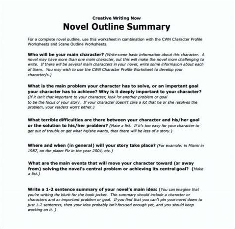 writing a novel outline template speech essay and research paper outline template