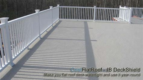 roof deck ib deck shield a beautiful watertight