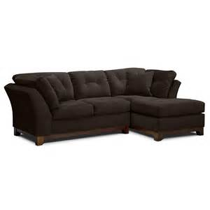 solace chocolate ii upholstery 2 pc sectional alternate