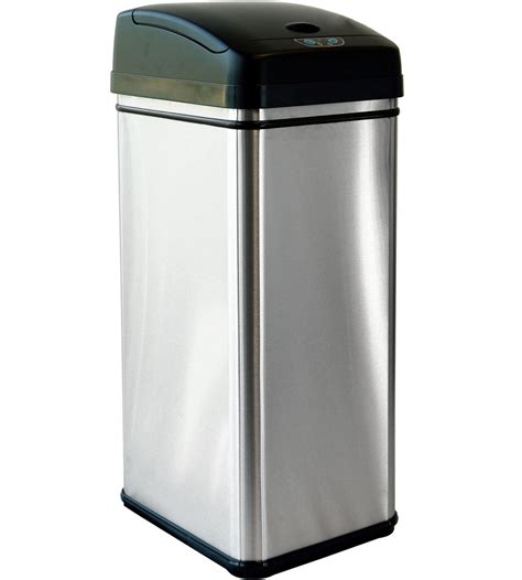 stainless steel automatic trash can in kitchen trash cans