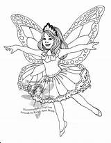 Fairy Coloring Butterfly Pages Fairies Adults Printable Detailed Doll Wings Paper Monarch Illustration Illustrations Mermaid Colorings Titled Second Butterly Outfits sketch template