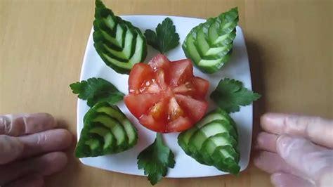 deko fuer salat aus tomate und gurke einfach youtube