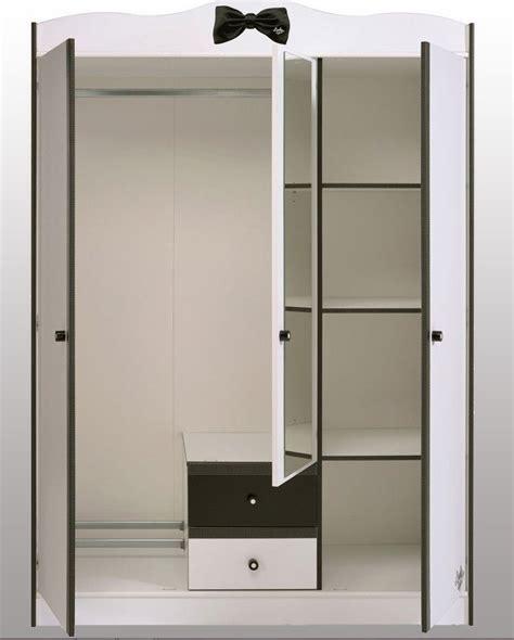 armoire blanche 3 portes miss secret de chambre