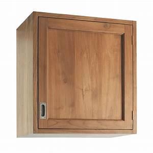 Cuisine En Teck : meuble haut de cuisine ouverture gauche en teck massif l ~ Edinachiropracticcenter.com Idées de Décoration