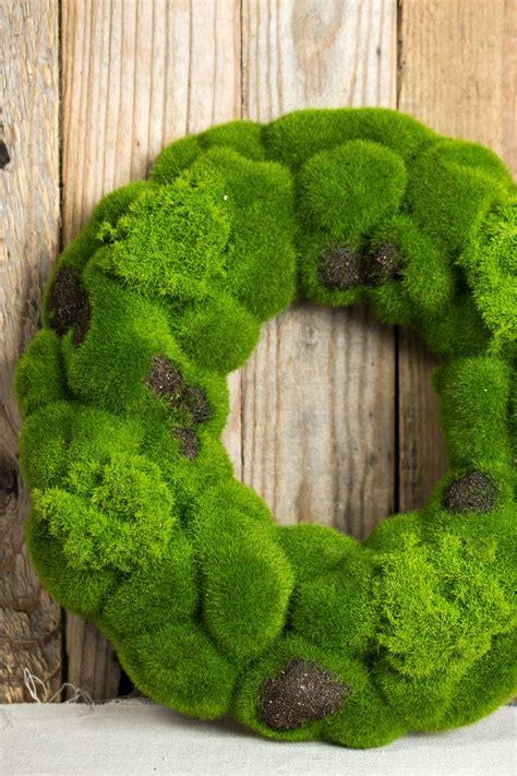 ideas  moss wreath  pinterest battery