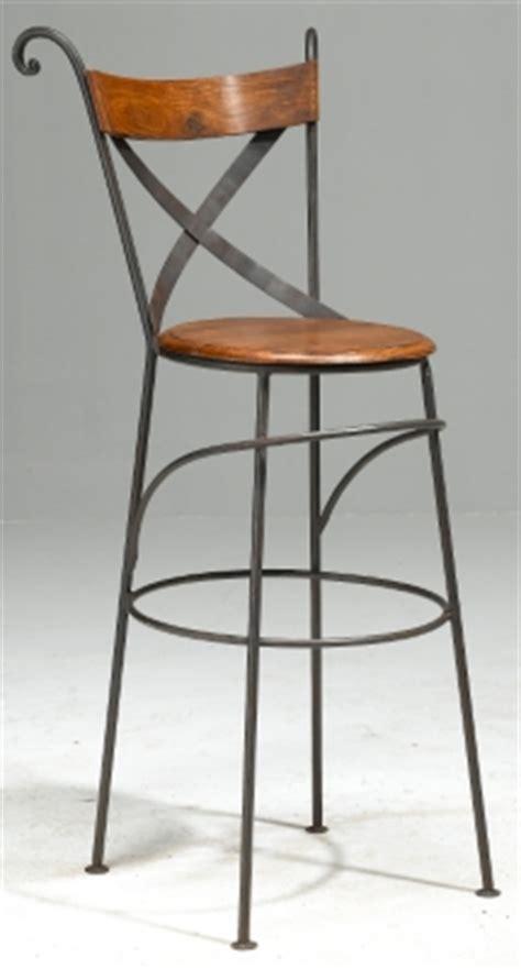 tabouret de bar en bois et fer forg 233