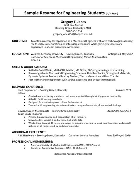 Objective Statements For Resumes by Sle Objective Statement Resume 8 Exles In Pdf
