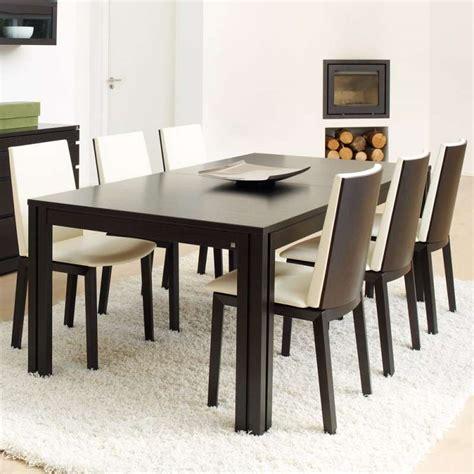 table en table en bois design avec allonges 200 cm x 100 cm 4 pieds tables chaises et tabourets