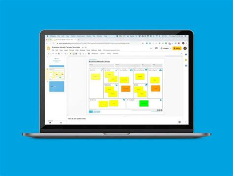 business model canvas template google