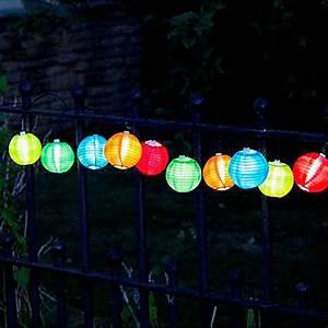 Guirlande Lumineuse Boule Exterieur : guirlande solaire 10 lanternes chinoises couleur sur guirlandes solaires ~ Dode.kayakingforconservation.com Idées de Décoration