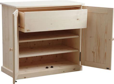 caisson bas cuisine meuble à chaussures 3 étagères 1 tiroir en bois brut