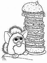 Coloring Burger Cheeseburger Furby Hamburger King Printable Getcolorings Giant Colorin Getdrawings Template sketch template