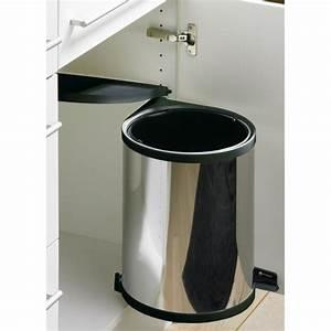 Meuble Poubelle Cuisine : poubelle de porte automatique en inox 1 seau de 13 ~ Dallasstarsshop.com Idées de Décoration