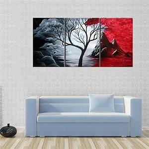 Modern abstract painting wall decor landscape canvas