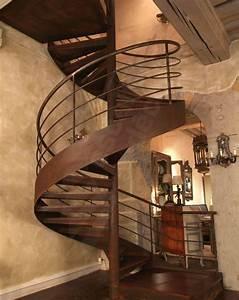 Main Courante Escalier Intérieur : escalier h lico dal m tal rouill et bois pour une finition chaleureuse photo dh41 spir 39 d co ~ Preciouscoupons.com Idées de Décoration