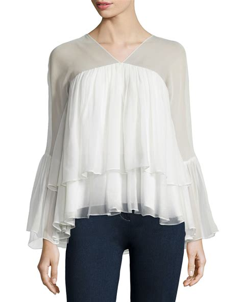 ruffled blouses elizabeth and alanis sleeve ruffled blouse in