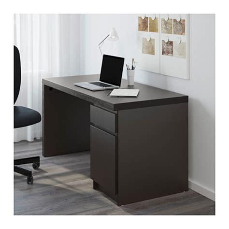 bureau ikea malm malm bureau brun noir ikea