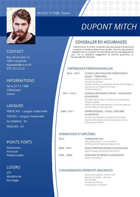 Exemple Cv Pro by Nos Mod 232 Les De Cv Pro Cv