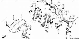 Honda Motorcycle 2003 Oem Parts Diagram For Front Fender