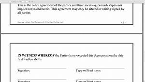 Lottery pool contract free printable documents for Group lottery contract template