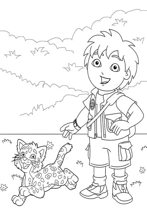 diego  coloring pages    print