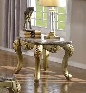 valencia 258 coffee table in gold tone w marble top options With gold tone coffee table