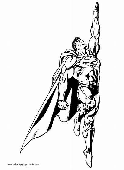 Superman Coloring Pages Superhero Cartoon Dc Superheroes