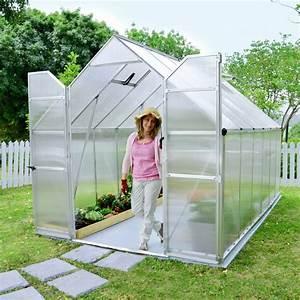 Serre De Jardin Polycarbonate : serre de jardin essence polycarbonate 8 80m2 embase ~ Dailycaller-alerts.com Idées de Décoration
