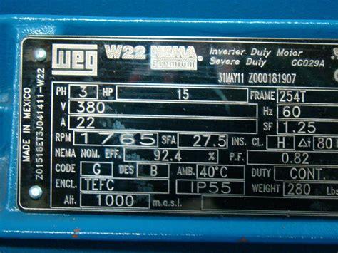 Industrial Electrical Wiring Diagram For Aho by Weg W22 Motor Nameplate Impremedia Net