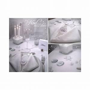 Deco Noel Blanc : table noel blanc argent ~ Teatrodelosmanantiales.com Idées de Décoration