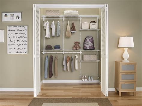 Adjustable Closet Organizer-white Color-5 To 8 Feet