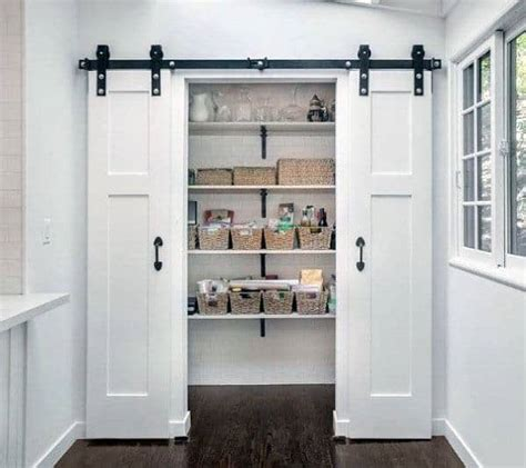 I have no idea why we have so much peanut butter! Top 40 Best Kitchen Pantry Door Ideas - Storage Closet Designs