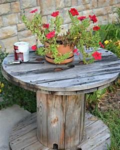 Table Jardin En Bois : table basse de jardin faire soi m me 24 id es cr atives ~ Dode.kayakingforconservation.com Idées de Décoration