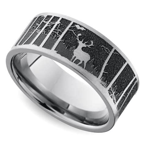 mems wedding rings laser carved mountain themed men s wedding ring in titanium