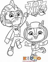 Topwing Cadets Squirrely Colorir Bea Cheep Kidocoloringpages Chirp Mati sketch template