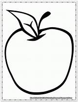 Apple Coloring Printable Fruit Scroll Want Down Popular sketch template