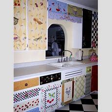 Stenciled Kitchen Cabinets